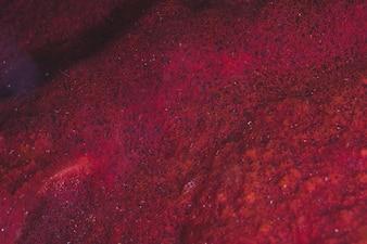 La surface rouge d'une planète