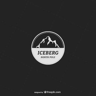 Modèle d'étiquette avec des montagnes