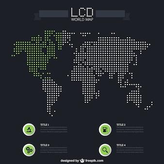 LCD carte du monde infographie