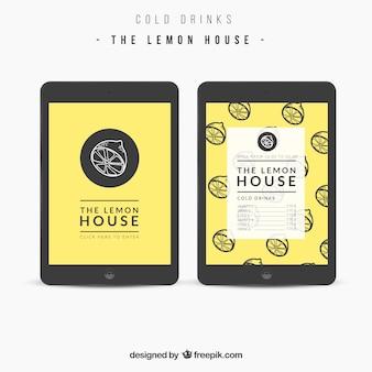 Le menu de la maison de citron