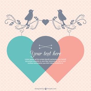 Le modèle de carte de Sweet Valentine