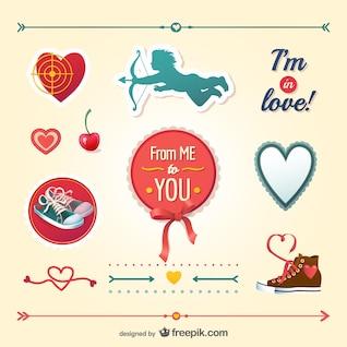 Le pack vecteur de valentine