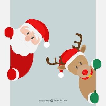 Le Père Noël et les rennes