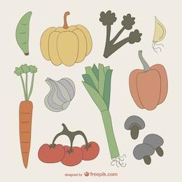 Légumes colorés dessin