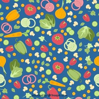 Légumes colorés motif