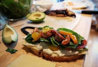 Légumes en sandwich