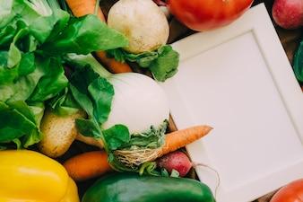 Légumes et cadre à droite