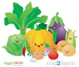 Légumes vecteur de Kawaii
