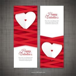 Les bannières Saint Valentin