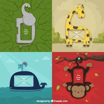 Les cadres des animaux