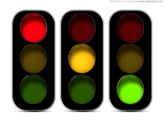 Les feux de circulation icône (PSD)