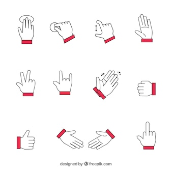 Les gestes des mains