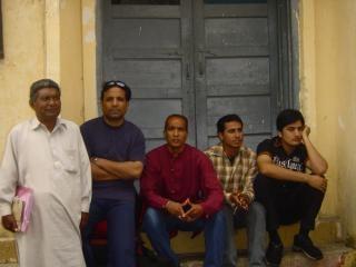 Les hommes indiens, les acteurs