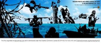 Les pirates et les gardes armés à bord des navires