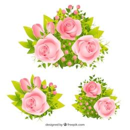 Les roses roses