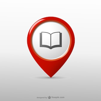 Bibliothèque icône de localisation