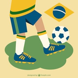 Libre de dessin vectoriel de football brésil