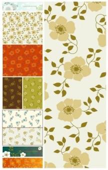 Libre doux fond vecteur modèle de fleur au printemps mignon beau coloré vert beige brun orangé à puce