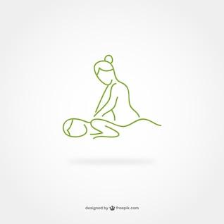 Ligne de massage art logo