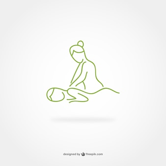 Ligne de massage art logo