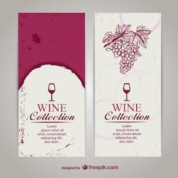 Liste de menu de vin modèle