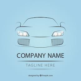 Logo modèle avec la voiture plan