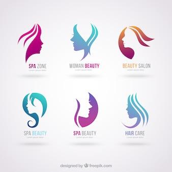 logos de salon de beauté