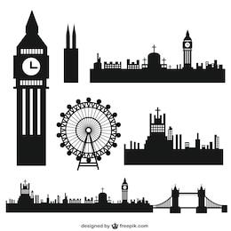 Londres silhouettes de la ville