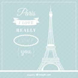 Love Paris vecteur