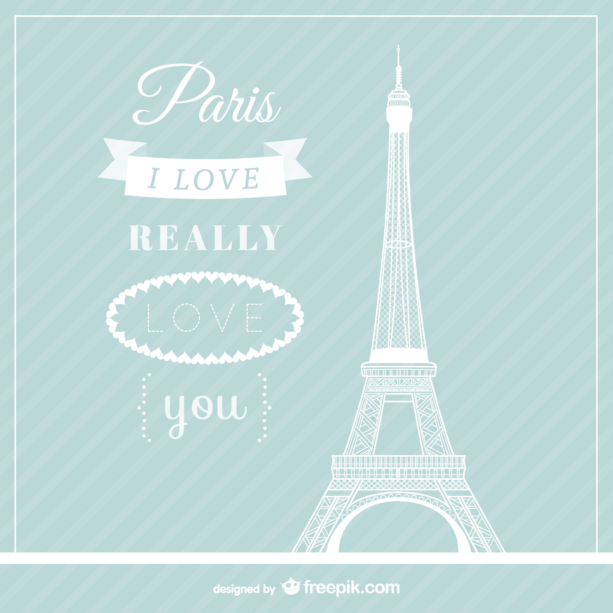 Love Paris vecteur