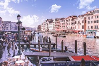 Magnifique Grand Canal à Venise, Italie