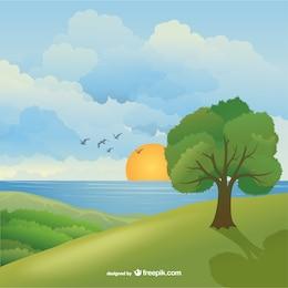 Magnifique paysage naturel
