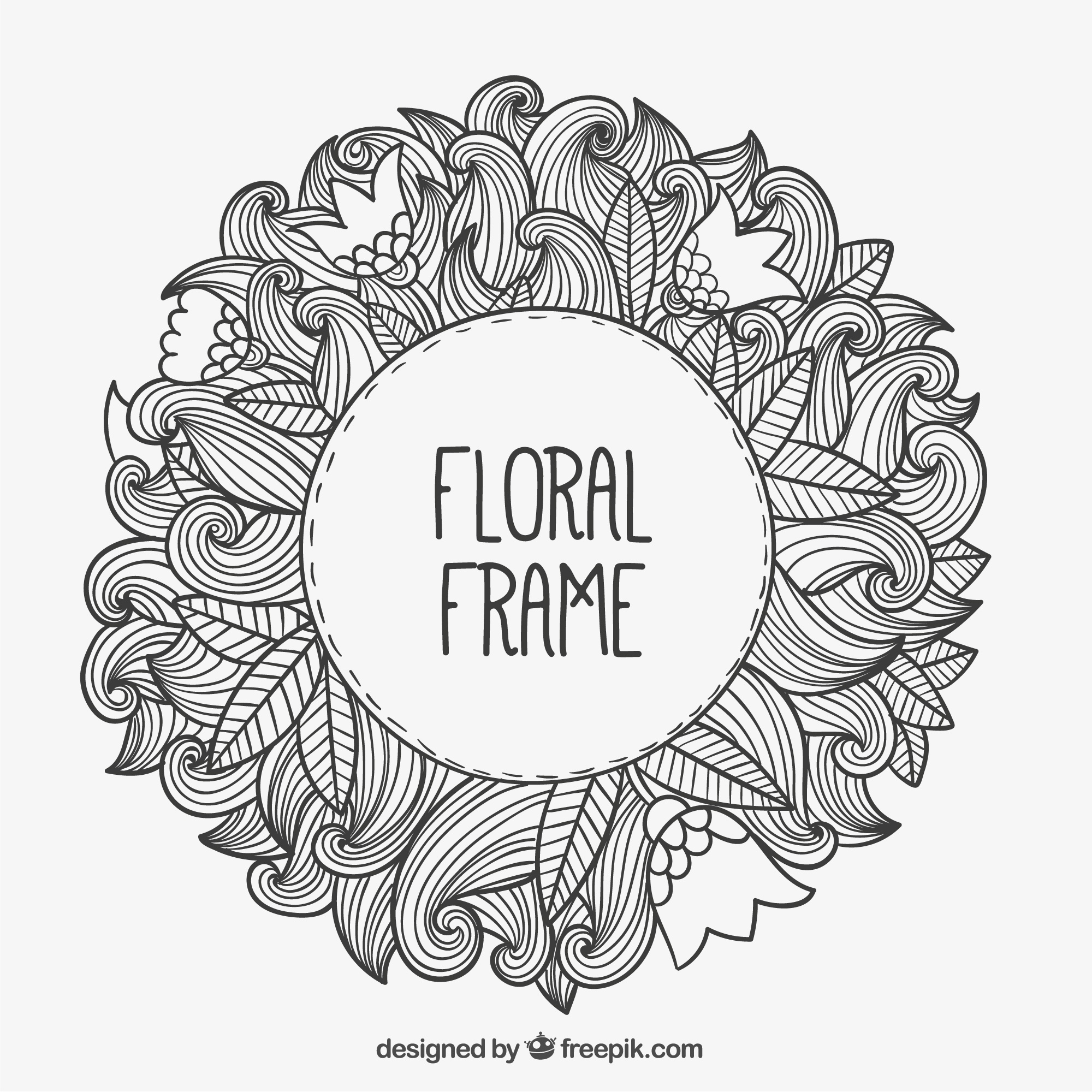 Main floral dessinée