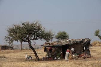 Maison en bois des pauvres