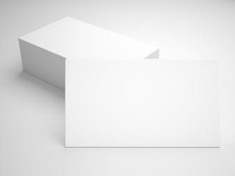 Maquette de carte de visite en blanc