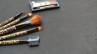 Maquillage pinceaux photographie en studio