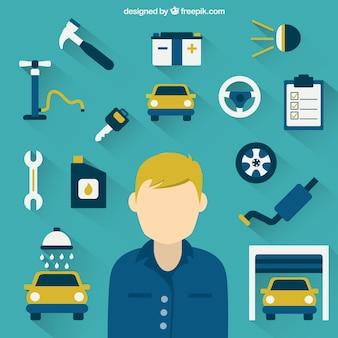 Mécanicien et des outils