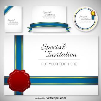 Meilleur modèle de carte de Design Invitation