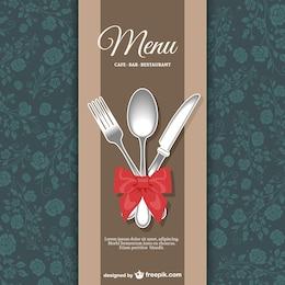 Menu de restaurant design floral