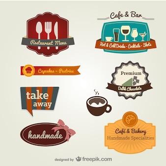 menu de l'étiquette restaurant vecteur modèle de matériau