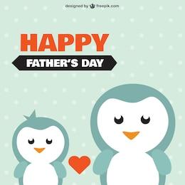 Mignon jour de pères heureux félicitations