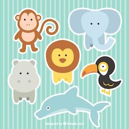 Mignon la collecte des animaux de zoo