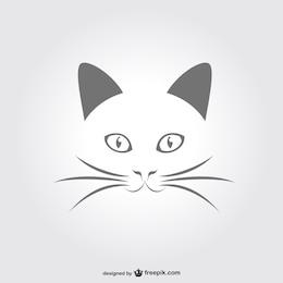 Minimale portrait vecteur de chat