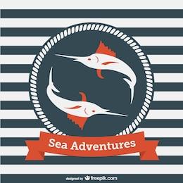 Modèle aventures maritimes de vecteur