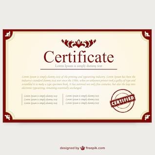 Modèle de certificat de mise en page