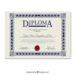 modèle de diplôme