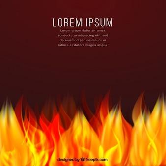 modèle de fond sur le feu