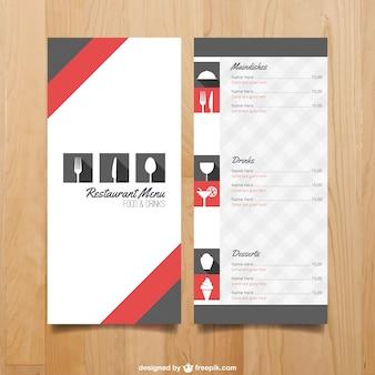 modèle de menu pour le restaurant