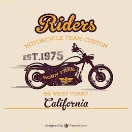 Modèle de moto de cru libre