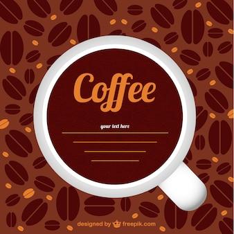 Modèle vectoriel avec des grains de café